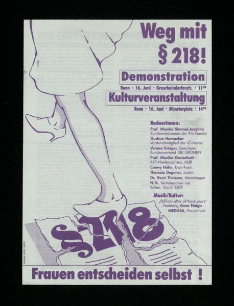 Demo und Kulturveranstaltung in Bonn